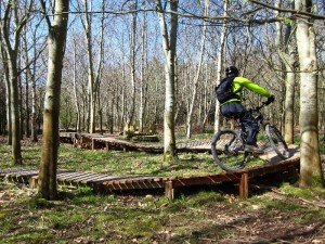 New woodwork at the Croft Trail, Swindon