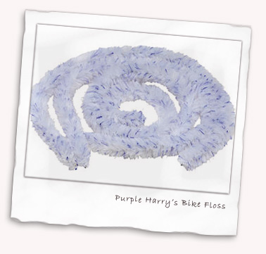Purple Harry Bike Floss for your bike