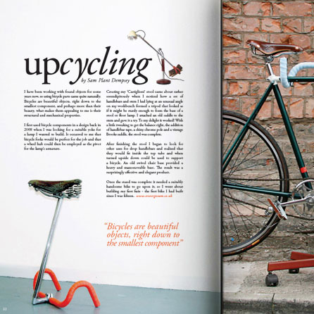 Article page from Boneshaker cycle magazine