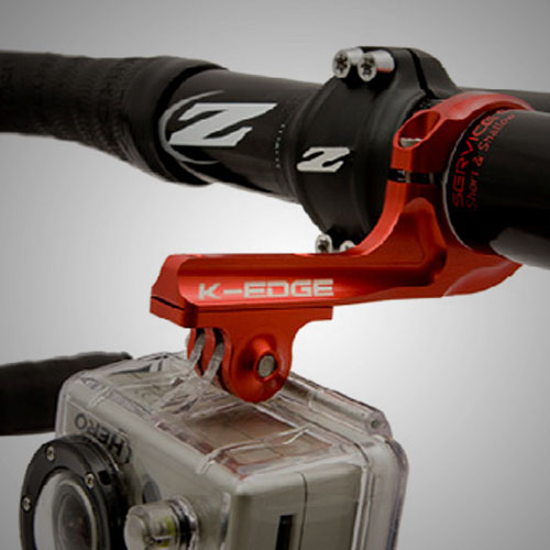 K-Edge GoPro mount in red