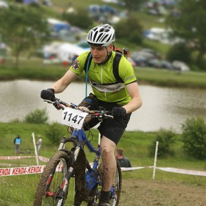 Matt at Mountain Mayhem 2012 on the Kenda climb
