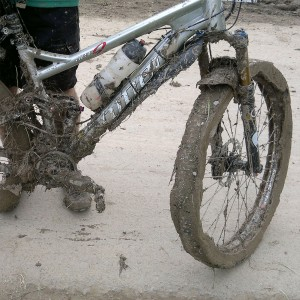 Paul's Niner clogged at Mountain Mayhem 2012