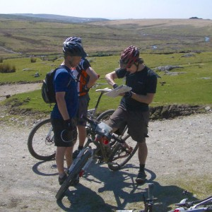 Navigating during a MIAS MTB course