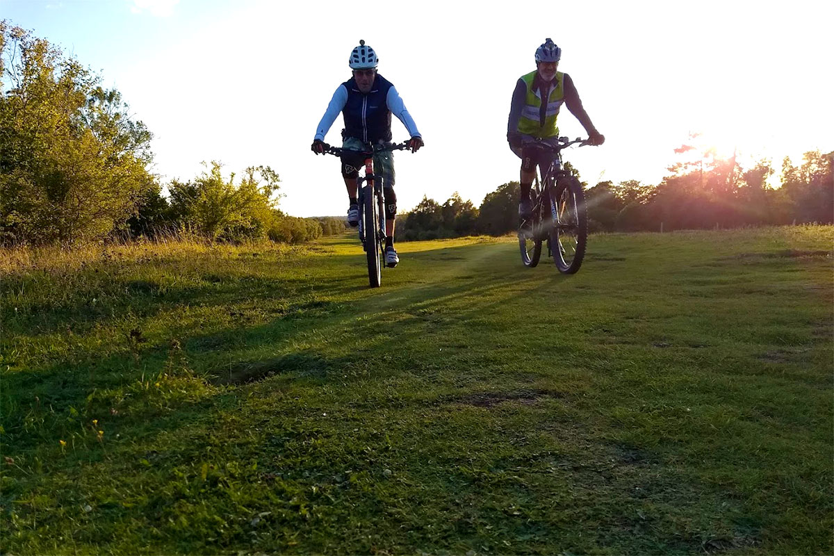 Tony and Lloyd and a Mickleham sunset