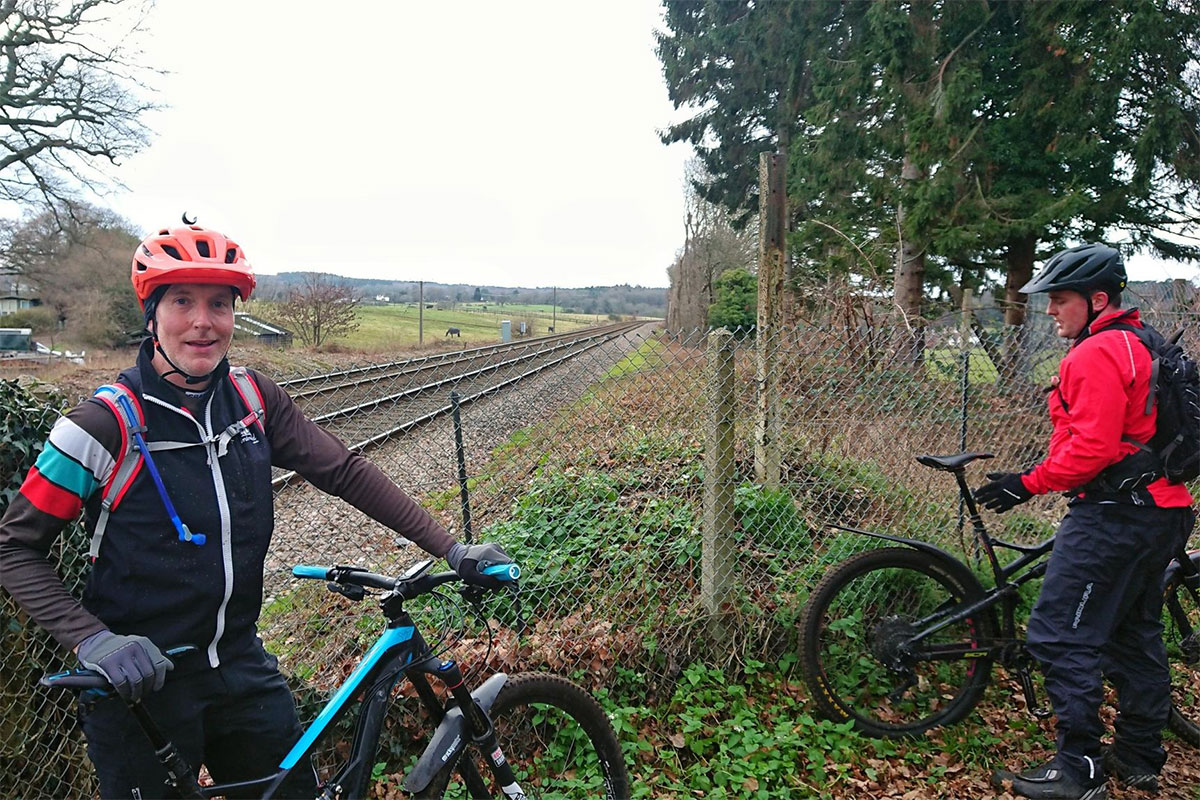 Matt and James by the railway