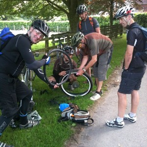 First puncture of the day