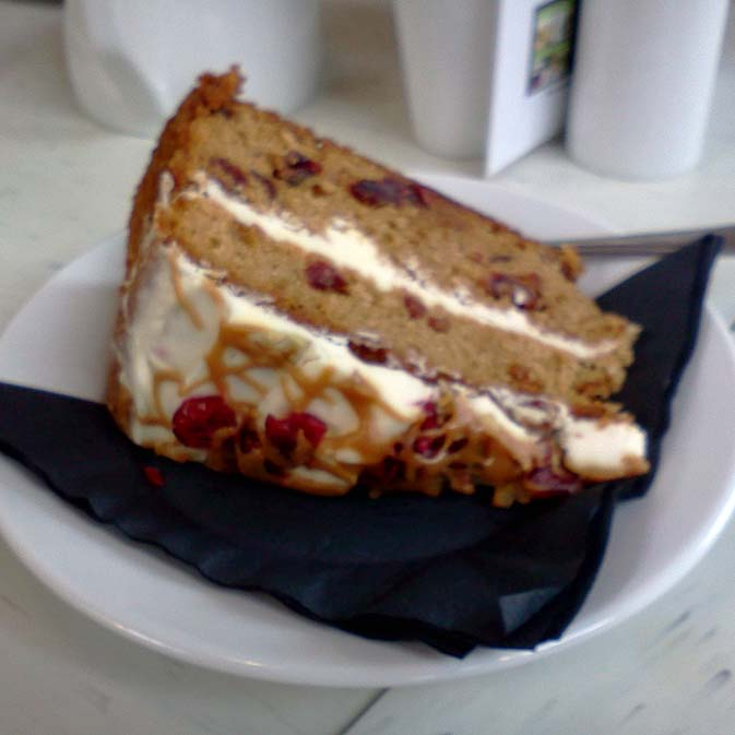 Cake at the QE2 park, South Downs Way
