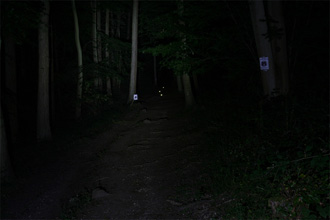 Dealextreme HA-III P7 LED MTB light Low beam shot