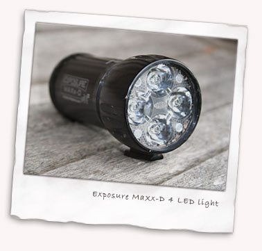 Exposure MaXx-D 4 LED light close up