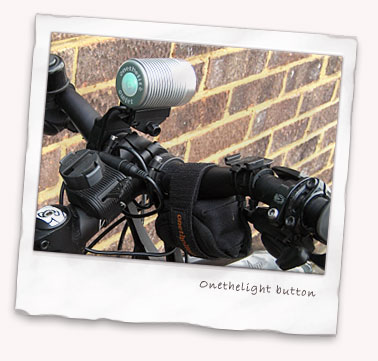 Onethelite P7 LED bike light from rear