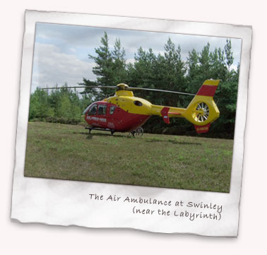 Air Ambulance at Swinley