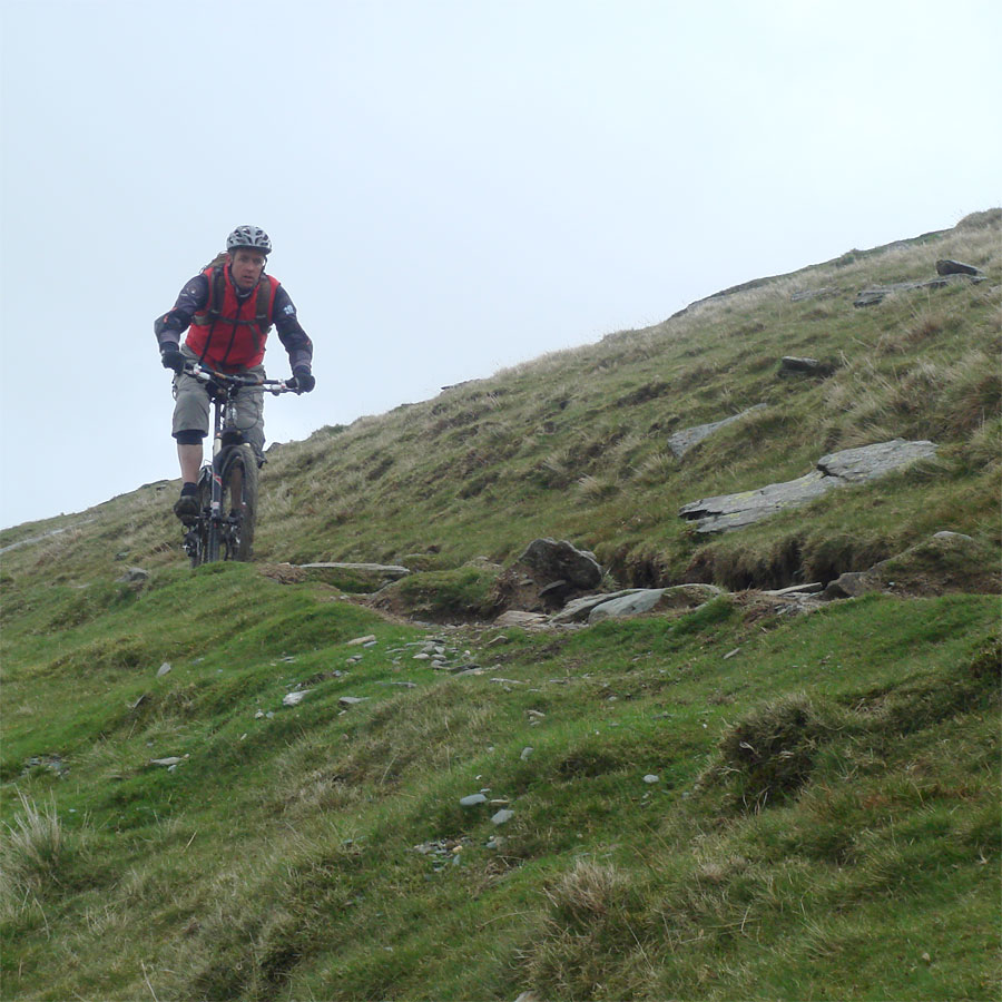Jez stays focussed on the Snowdon descent