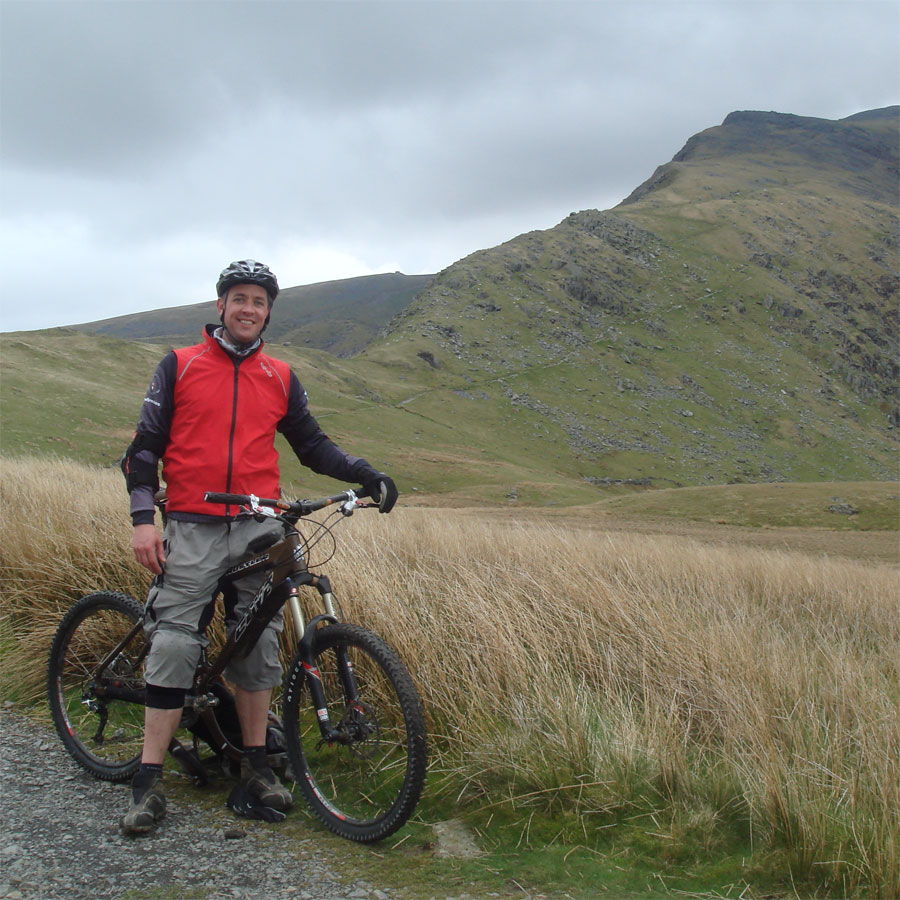 Jez rests at the foot of Snowdon