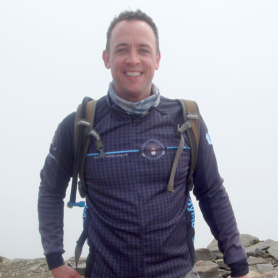 Jez on the summit of Snowdon