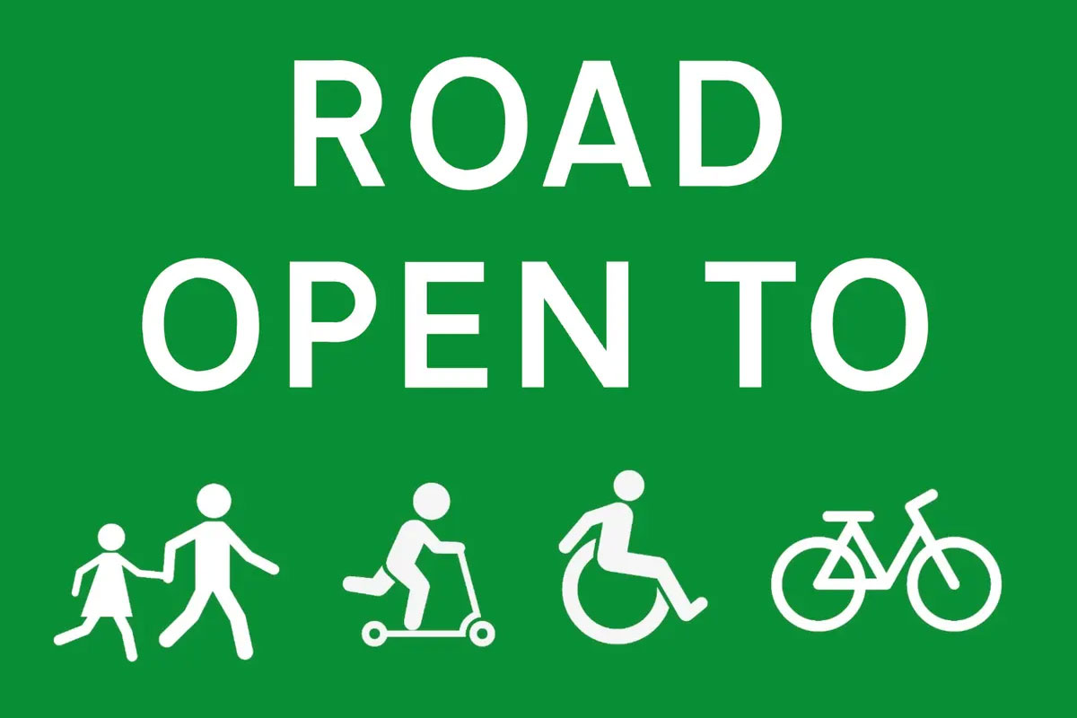Road Open to Cycles and more