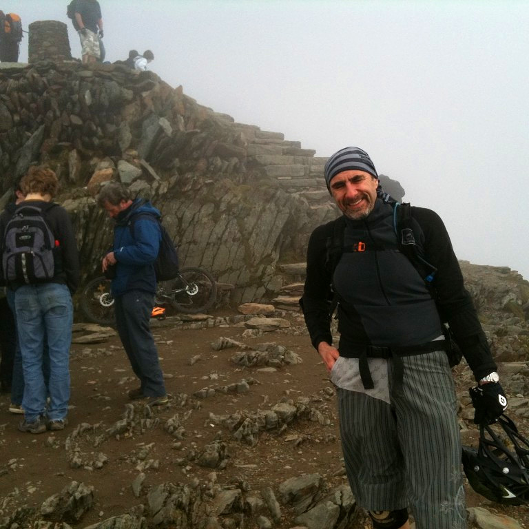 Andy on the summit of Snowdon