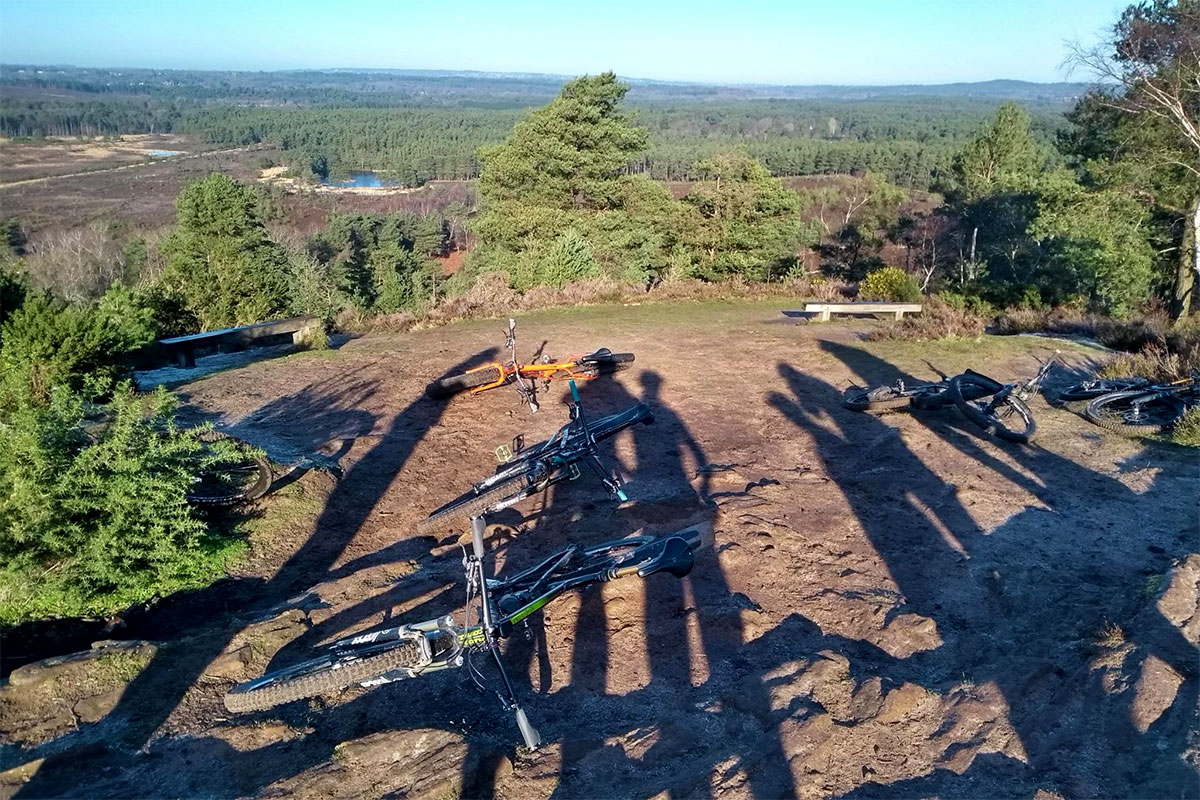 Tall shadows at the Devils Jumps